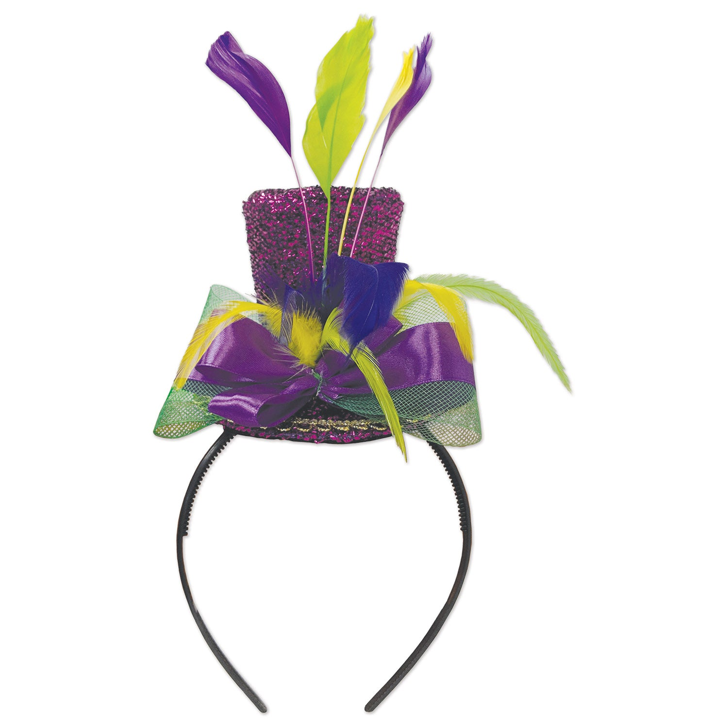 Mardi GrasTop Hat Headband by Beistle - Mardi Gras Theme Decorations