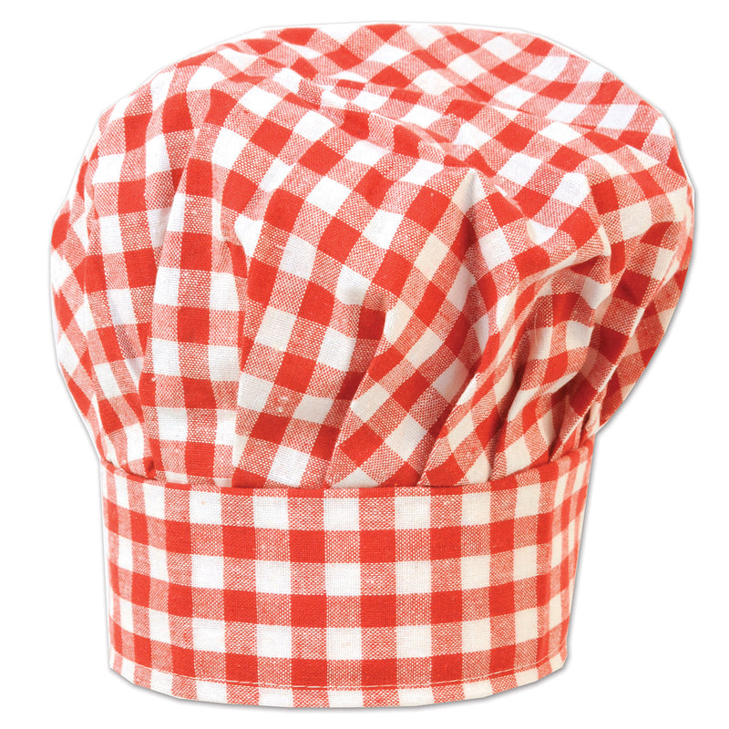 Gingham Fabric Chef's Hat by Beistle - Spring/Summer Theme Decorations