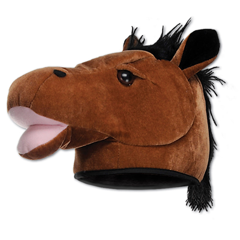 Plush Horse Head Hat by Beistle - Farm Theme Decorations