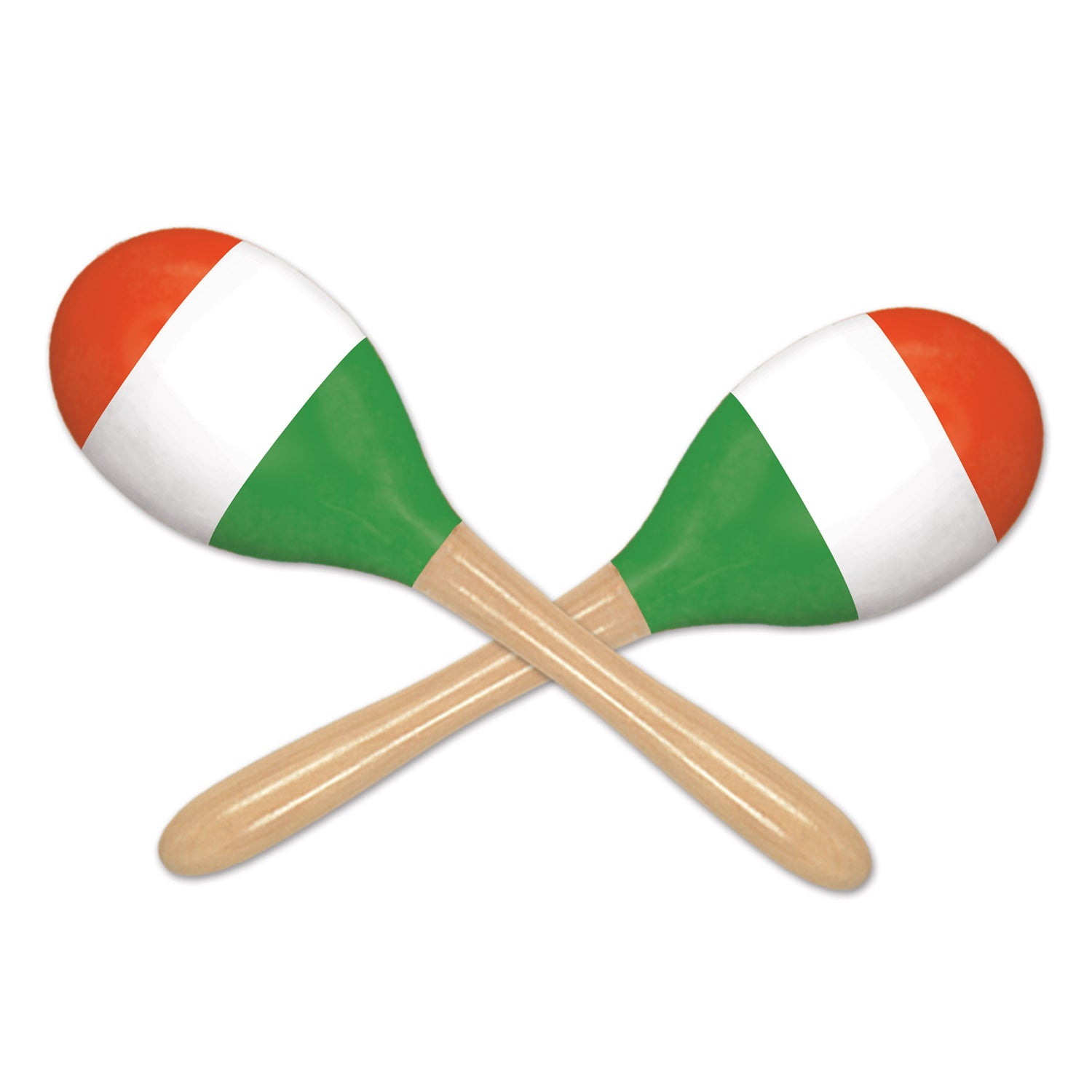 Red, White & Green Maracas (2/Pkg) by Beistle - Cinco de Mayo and Fiesta Party Supplies Decorations