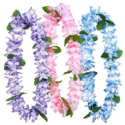 Island Floral Leis (3/Card) by Beistle - Luau Theme Decorations