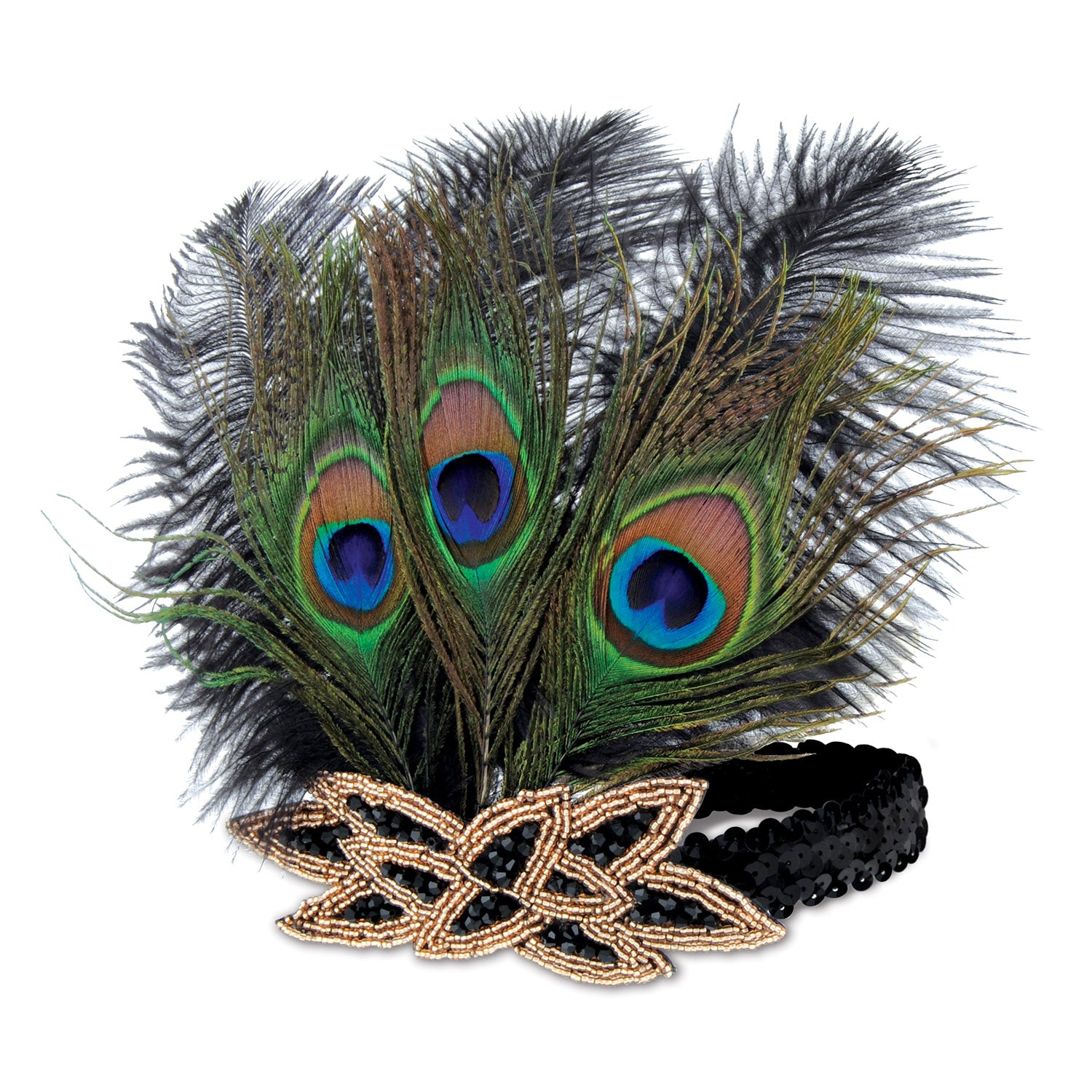 Flapper Peacock Headband by Beistle - 20's Theme Decorations