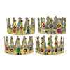 Printed Jeweled Crowns by Beistle - Mardi Gras Theme Decorations