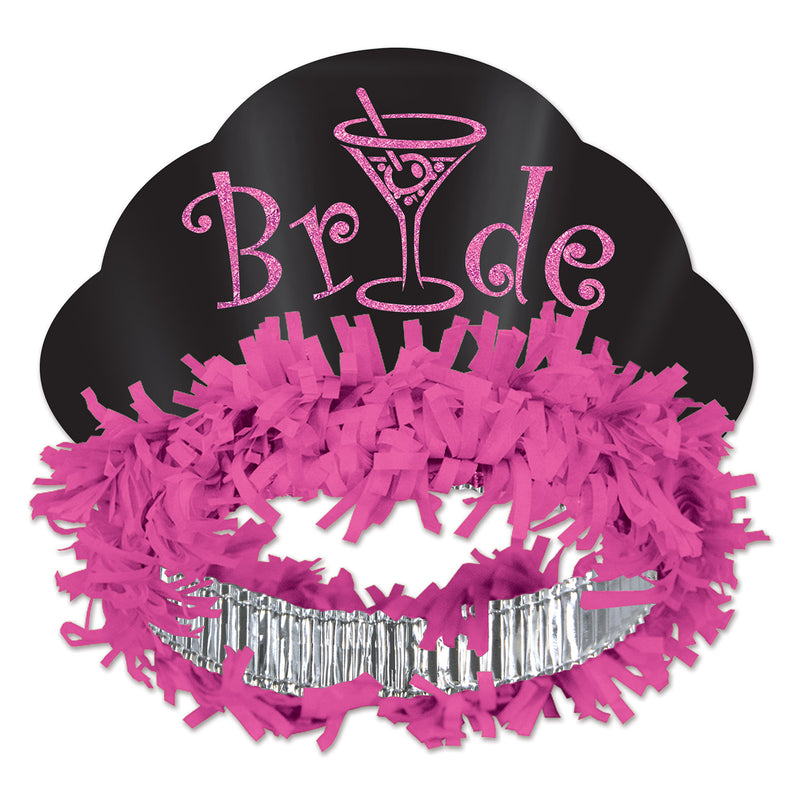 Glittered Bride Tiara by Beistle - Bachelorette Theme Decorations