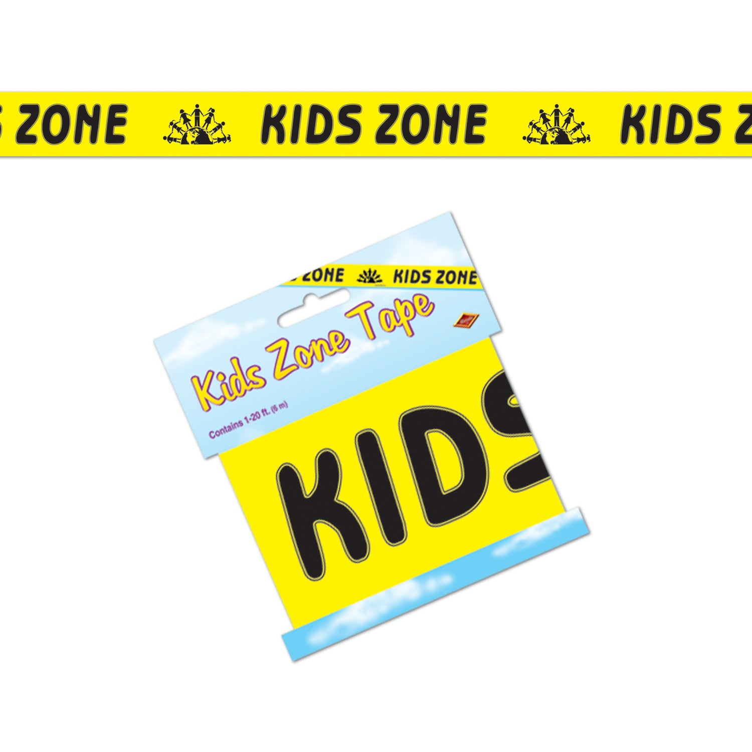 Kids Zone Party Tape by Beistle - Construction Theme Decorations