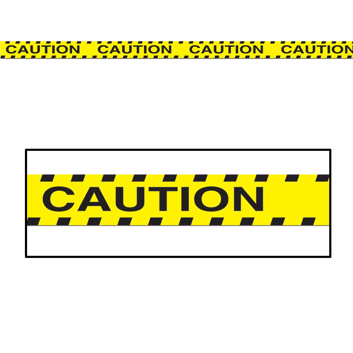 Caution Party Tape by Beistle - Construction Theme Decorations