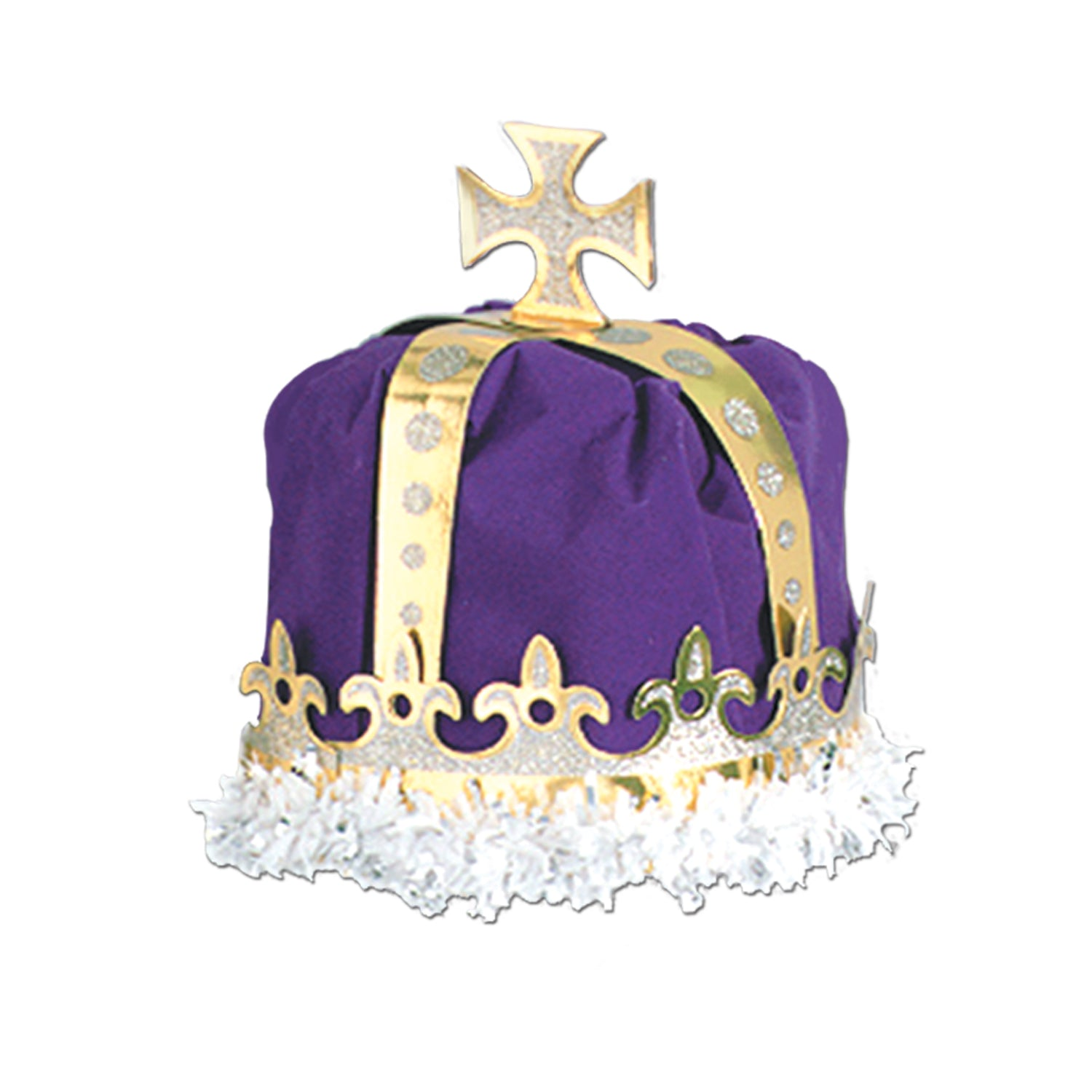 Royal King's Crown, purple; velvet-textured by Beistle - Mardi Gras Theme Decorations