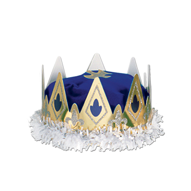 Royal Queen's Crown by Beistle - Mardi Gras Theme Decorations