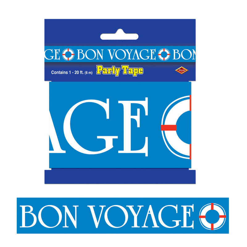 Bon Voyage Party Tape by Beistle - Nautical Theme Decorations
