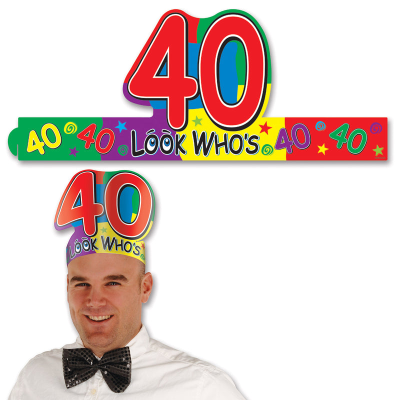 Look Who's 40 Headband by Beistle - 40th Birthday Party Decorations