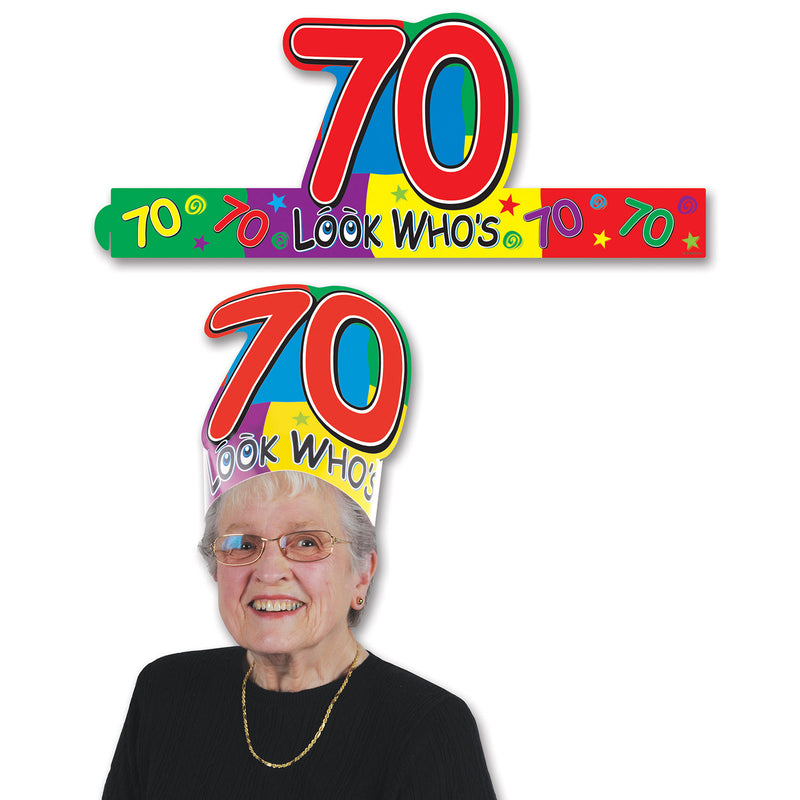 Look Who's 70 Headband by Beistle - 70th Birthday Party Decorations