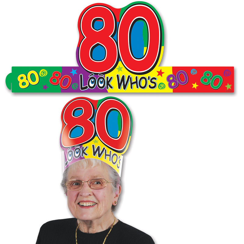 Look Who's 80 Headband by Beistle - 80th Birthday Party Decorations