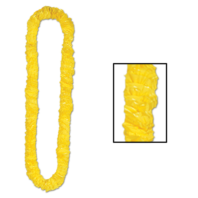 Soft-Twist Poly Leis, yellow by Beistle - Luau Theme Decorations