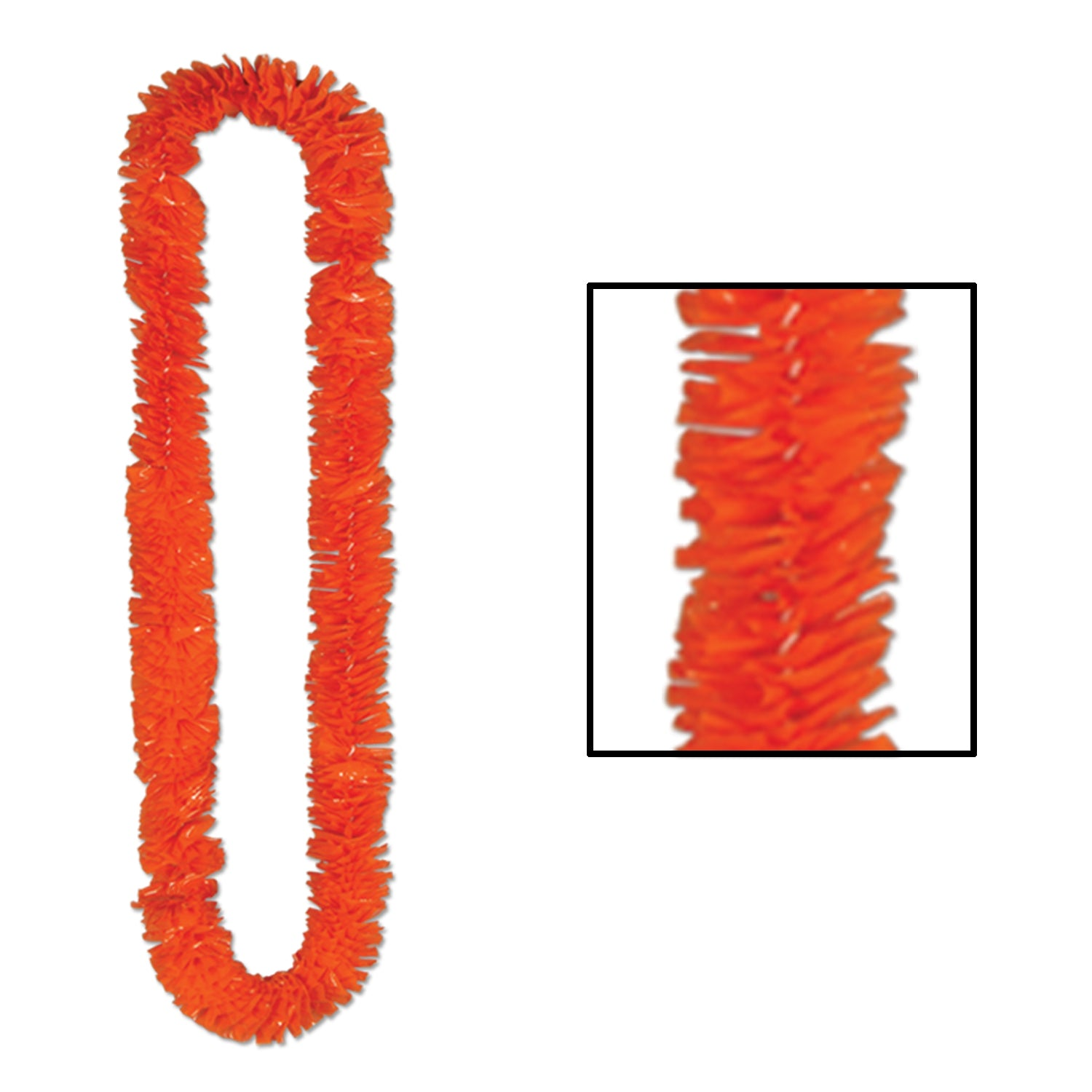 Soft-Twist Poly Leis, orange by Beistle - Luau Theme Decorations