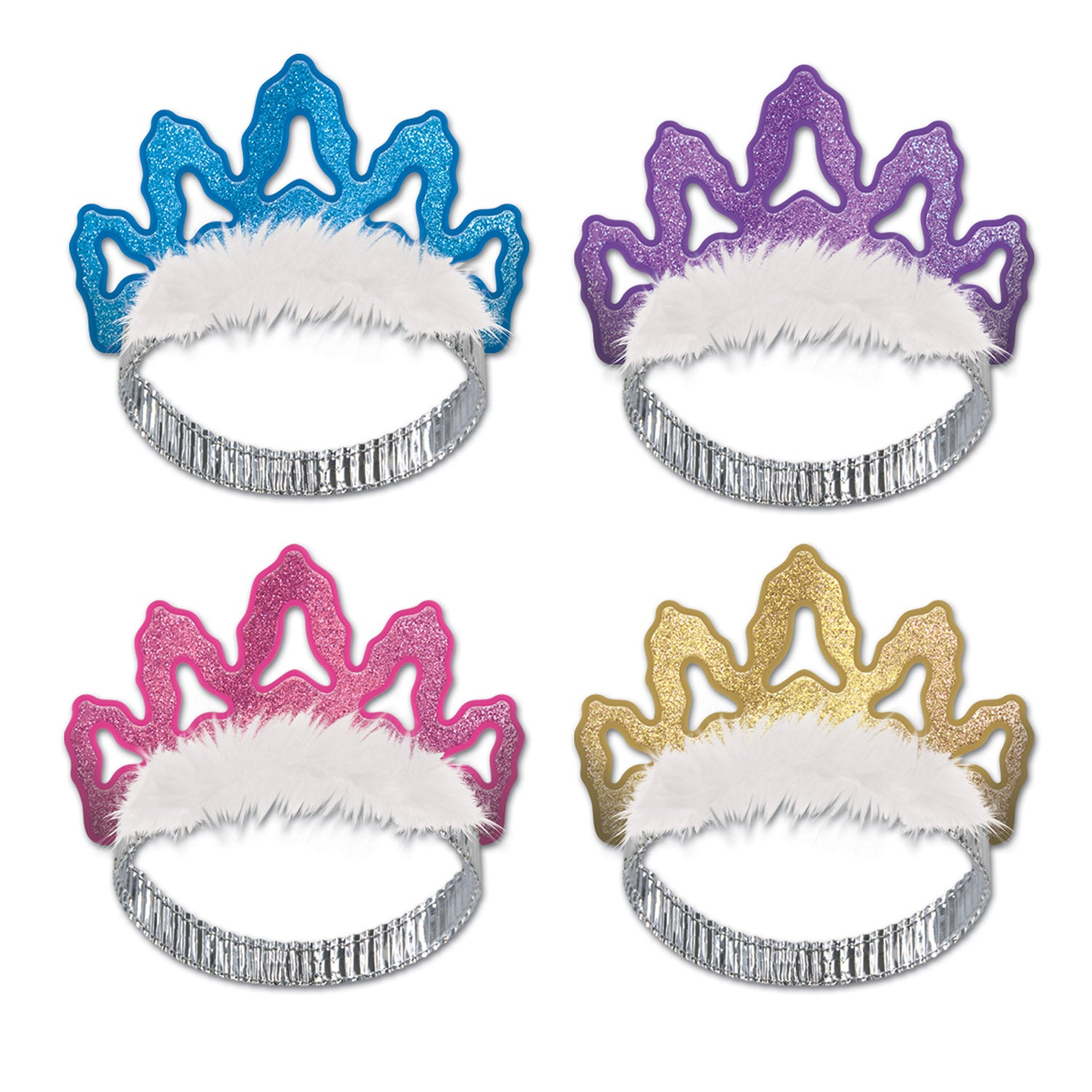 Packaged Coronet Tiaras (4/Pkg) by Beistle - General Occasion Decorations
