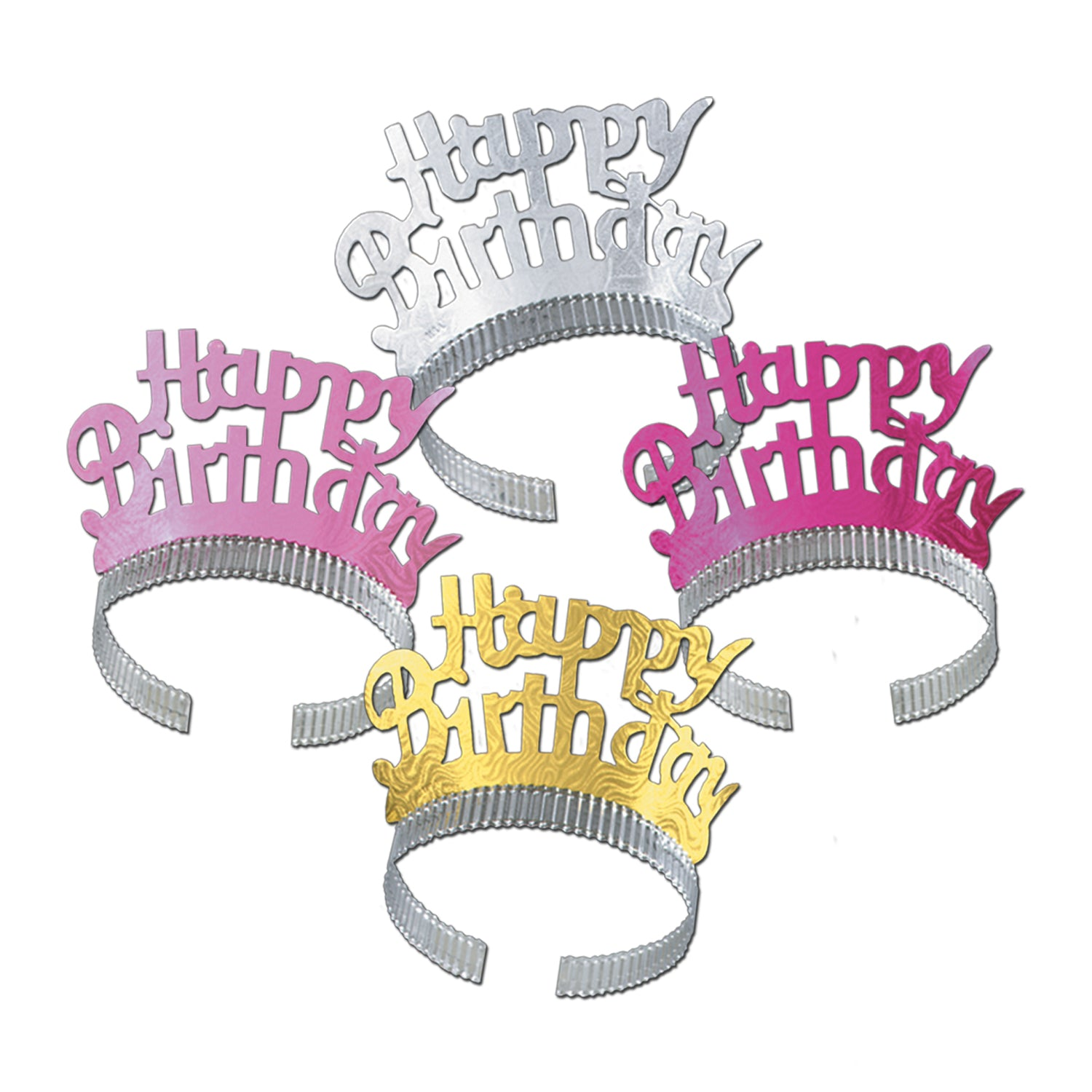 Happy Birthday Tiaras by Beistle - Birthday Party Supplies Decorations