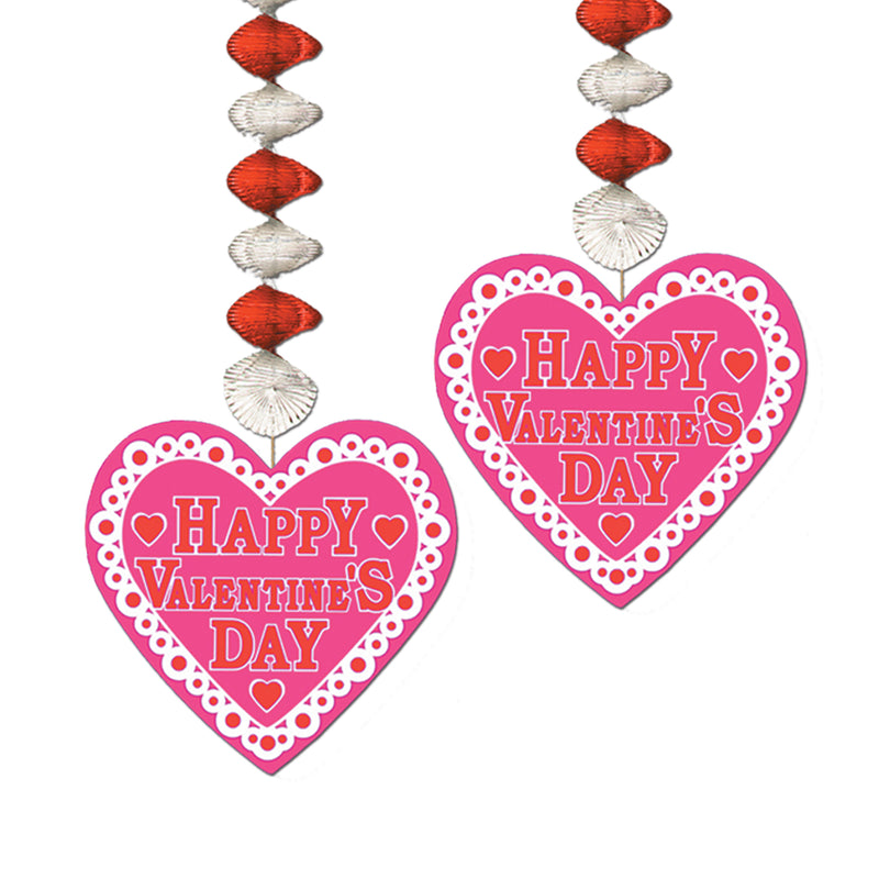 Valentine Danglers (2/Pkg) by Beistle - Valentines Day Theme Decorations