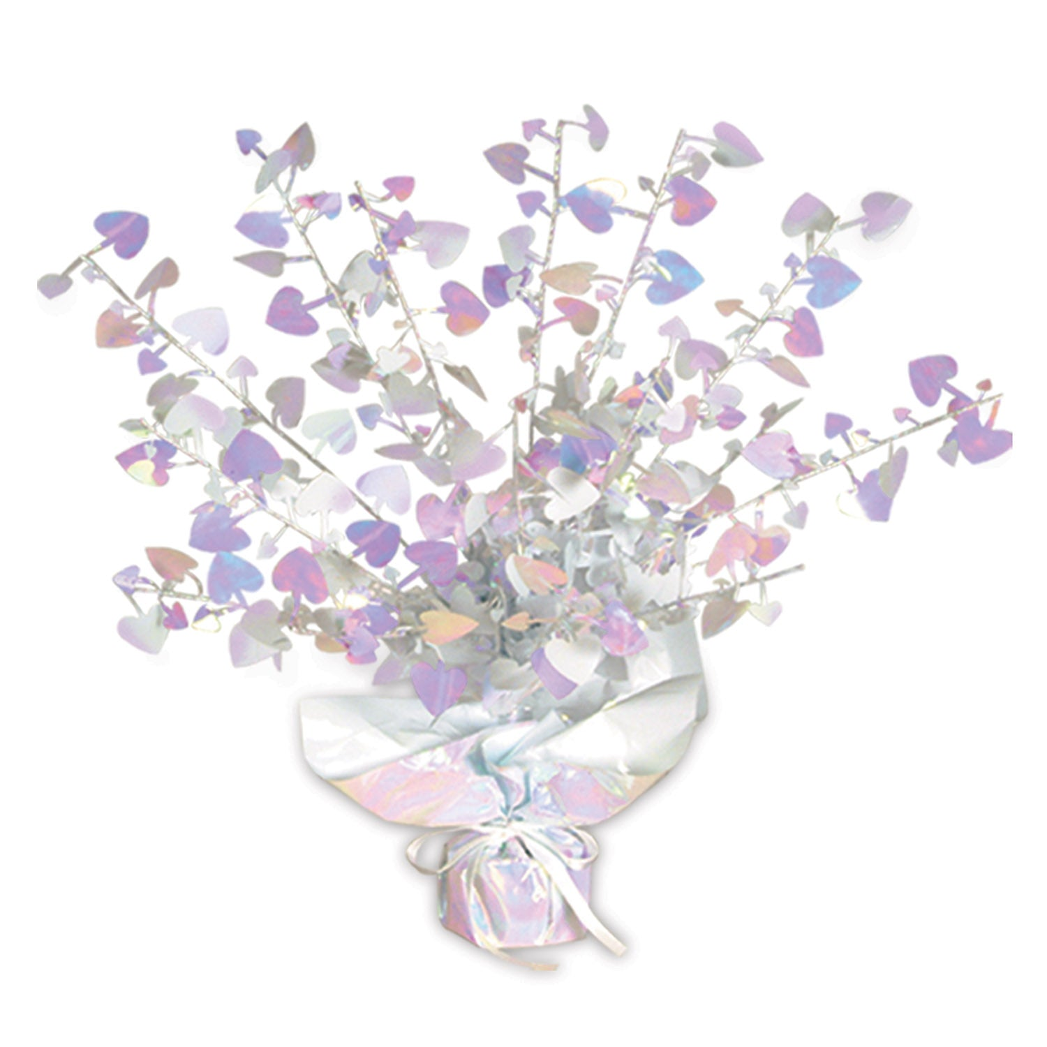 Heart Gleam 'N Burst Centerpiece, opalescent by Beistle - Valentines Day Theme Decorations