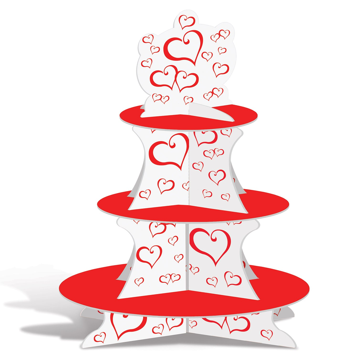 Valentine Cupcake Stand by Beistle - Valentines Day Theme Decorations