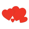 Printed Heart Cutout by Beistle - Valentines Day Theme Decorations