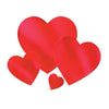 Foil Heart Cutout, red; foil 2 sides by Beistle - Valentines Day Theme Decorations