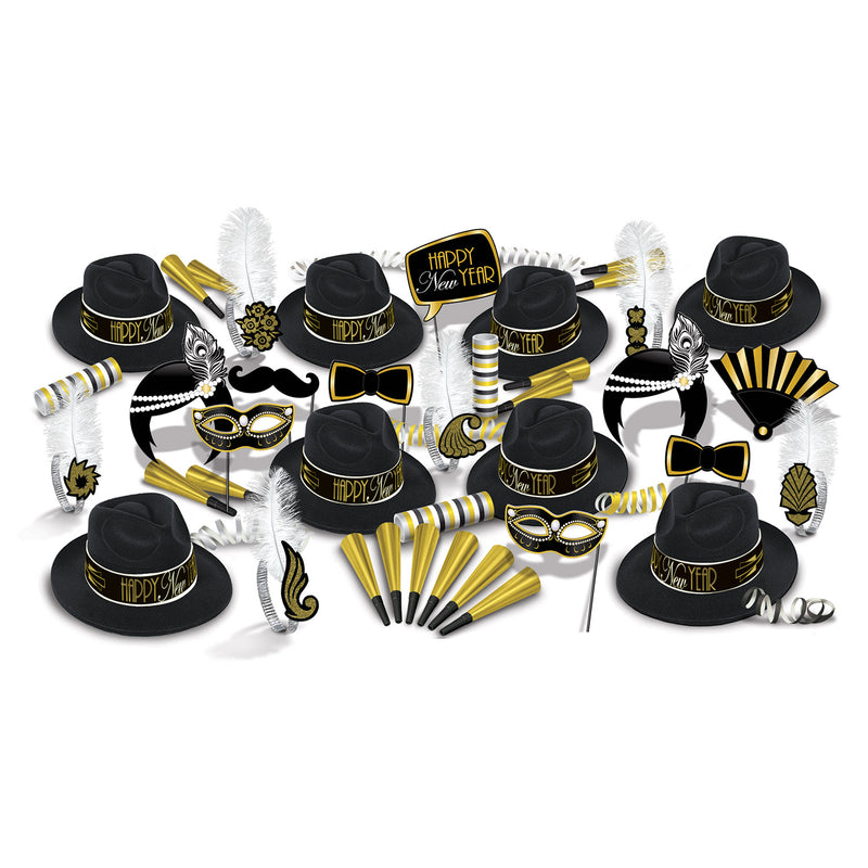 The Great 1920's New Year New Year's Eve Party Kit for 50 People by Beistle - New Year's Eve Theme Decorations