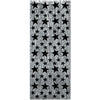 1-Ply Gleam 'N Curtain, silver w/prtd black stars by Beistle - New Year's Eve Theme Decorations