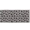 1-Ply Metallic Table Skirting, silver w/prtd black stars by Beistle - New Year's Eve Theme Decorations