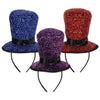 Sparkling Top Hat Headbands by Beistle - New Year's Eve Theme Decorations