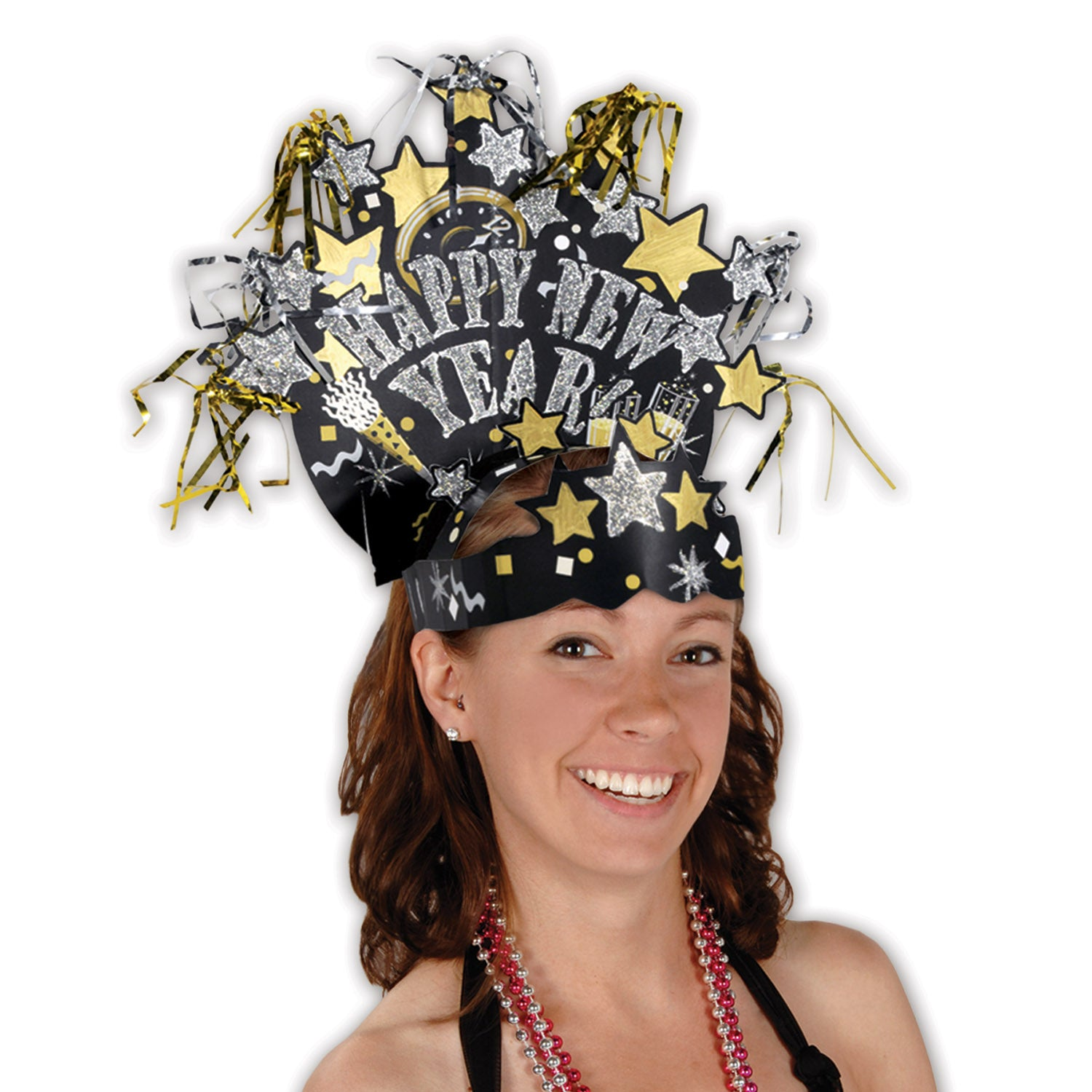 Glittered New Year Headdress by Beistle - New Year's Eve Theme Decorations