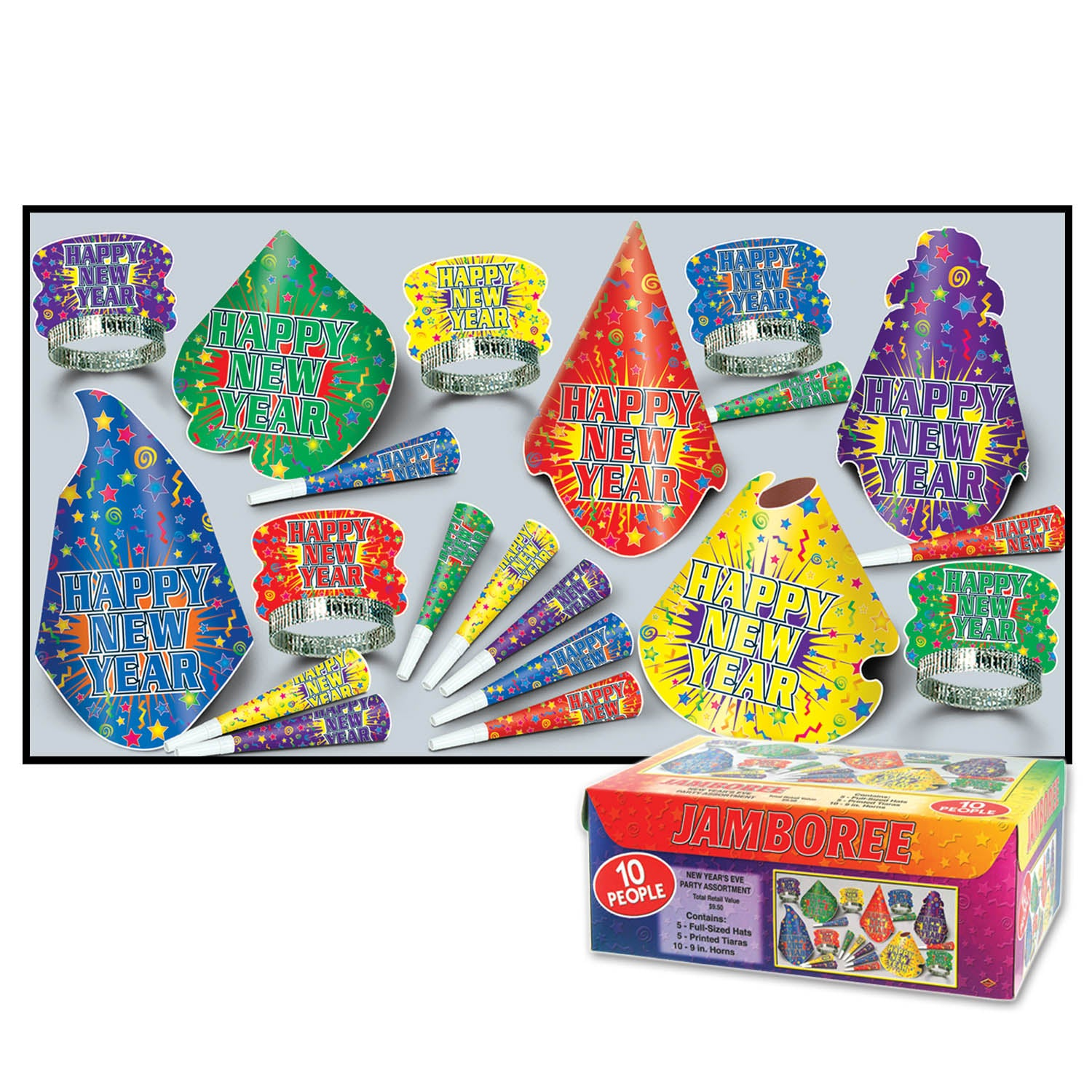 Jamboree Assortment for 10 by Beistle - New Year's Eve Theme Decorations