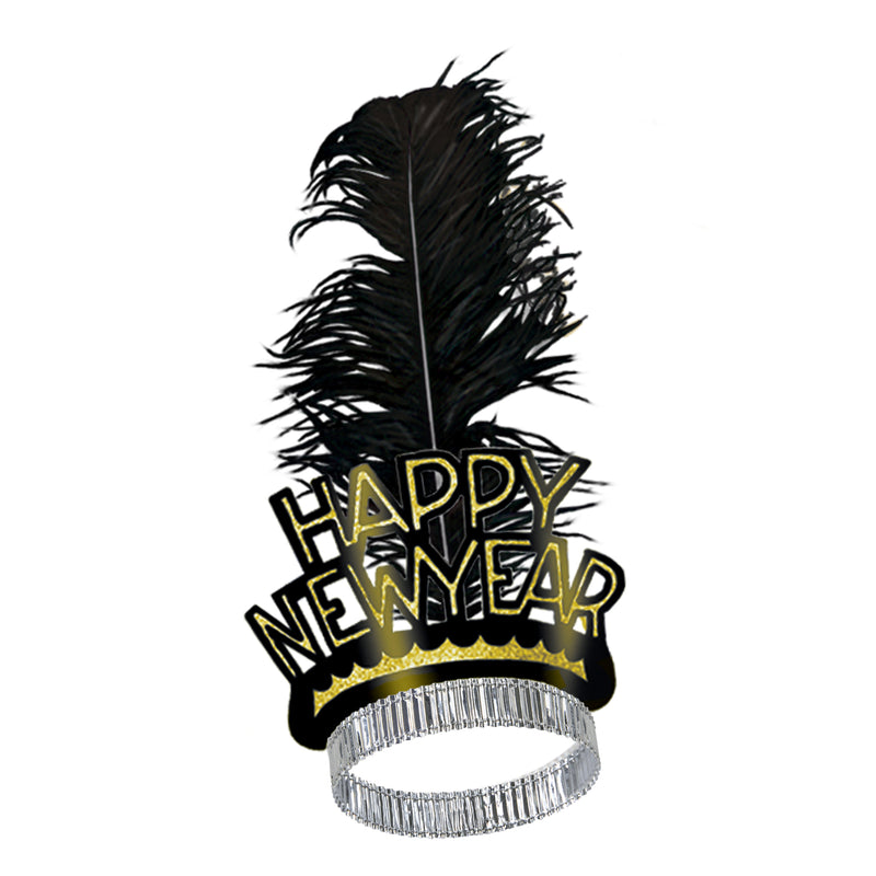 Black & Gold Swing Tiara by Beistle - New Year's Eve Theme Decorations