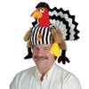 Plush Referee Turkey Hat by Beistle - Fall and Thanksgiving Theme Decorations