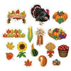 Thanksgiving Cutouts (16/Pkg) by Beistle - Fall and Thanksgiving Theme Decorations