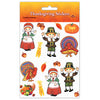 Pilgrim & Turkey Stickers (4 Shs/Pkg) by Beistle - Fall and Thanksgiving Theme Decorations