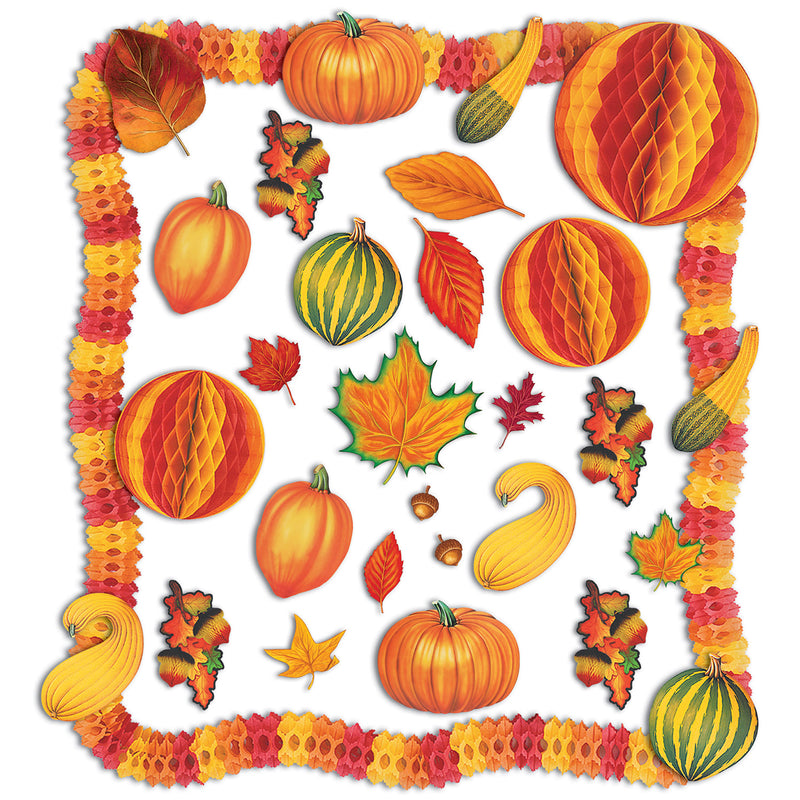 Fall Decorating Kit by Beistle - Fall and Thanksgiving Theme Decorations