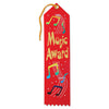 Music Award Ribbon by Beistle - School Awards and Supplies Decorations