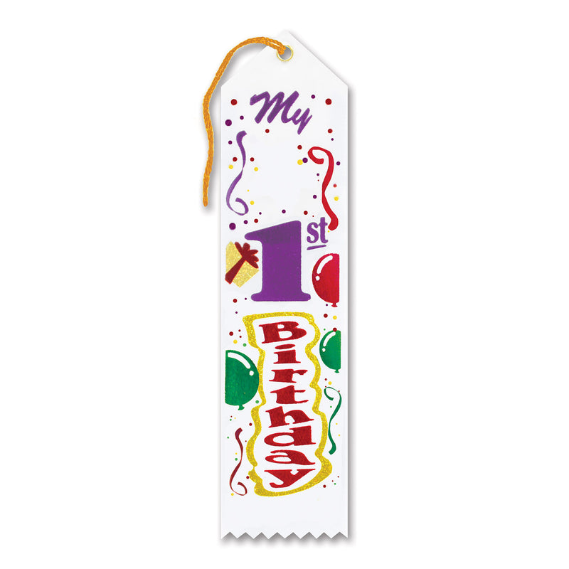 My 1st Birthday Award Ribbon by Beistle - 1st Birthday Party Decorations