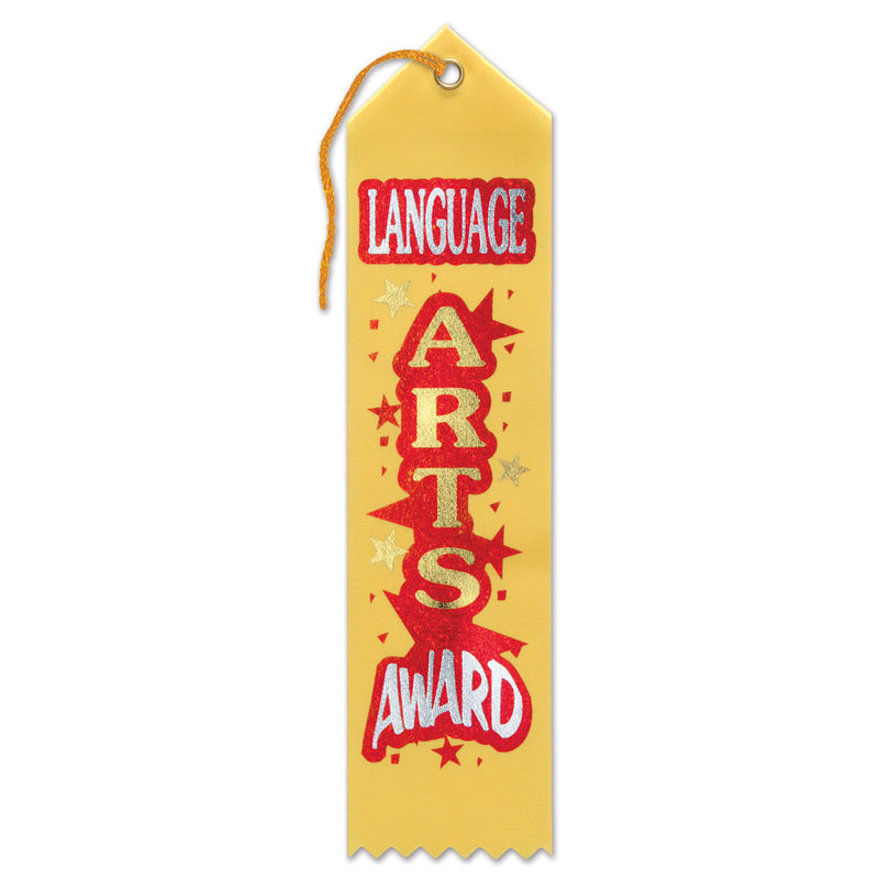 Language Arts Award Ribbon by Beistle - School Awards and Supplies Decorations