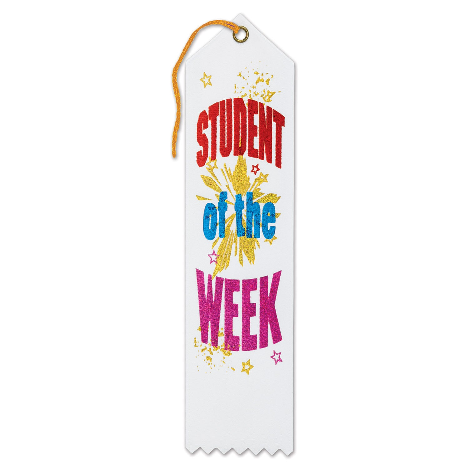 Student Of The Week Award Ribbon by Beistle - School Awards and Supplies Decorations