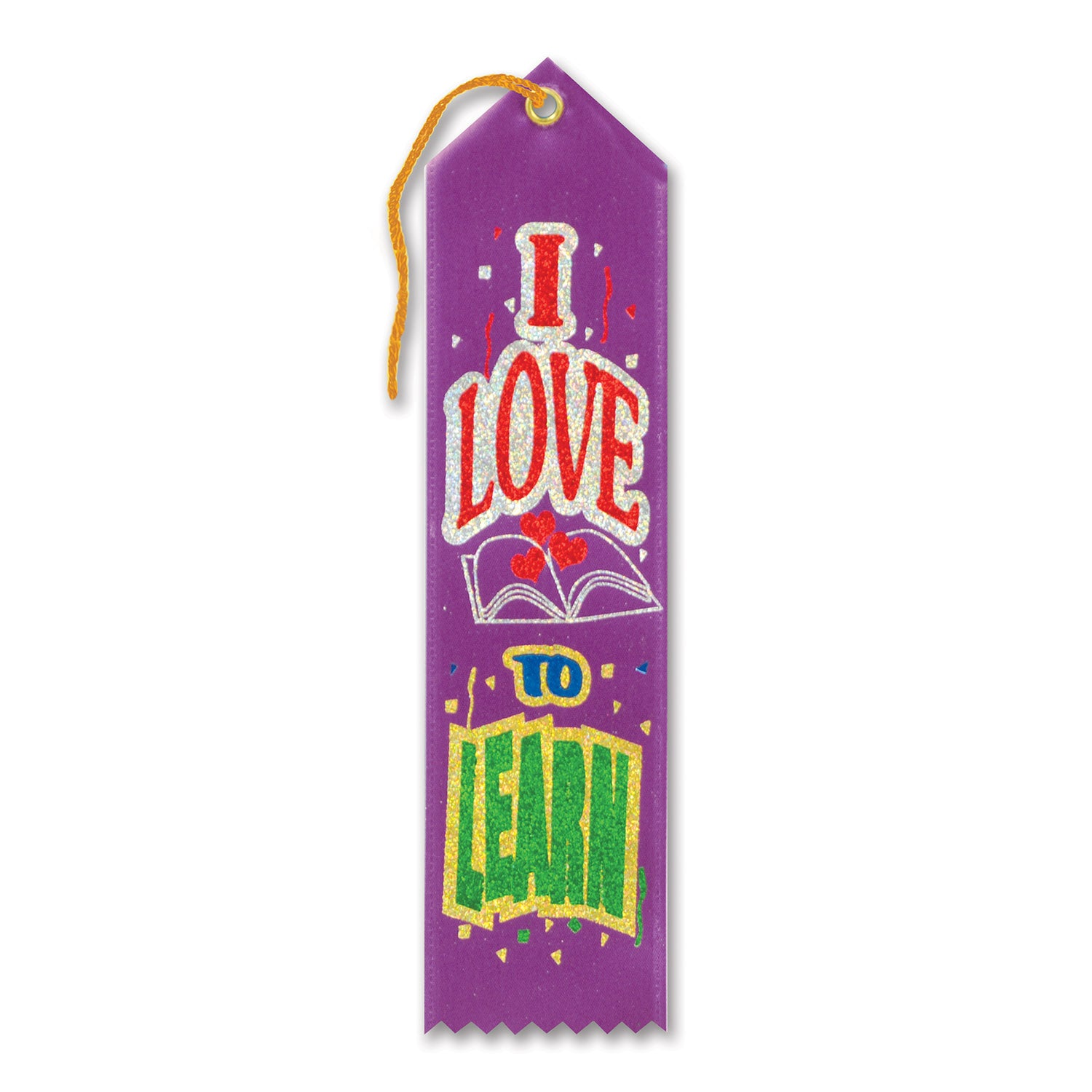 I Love To Learn Award Ribbon by Beistle - School Awards and Supplies Decorations