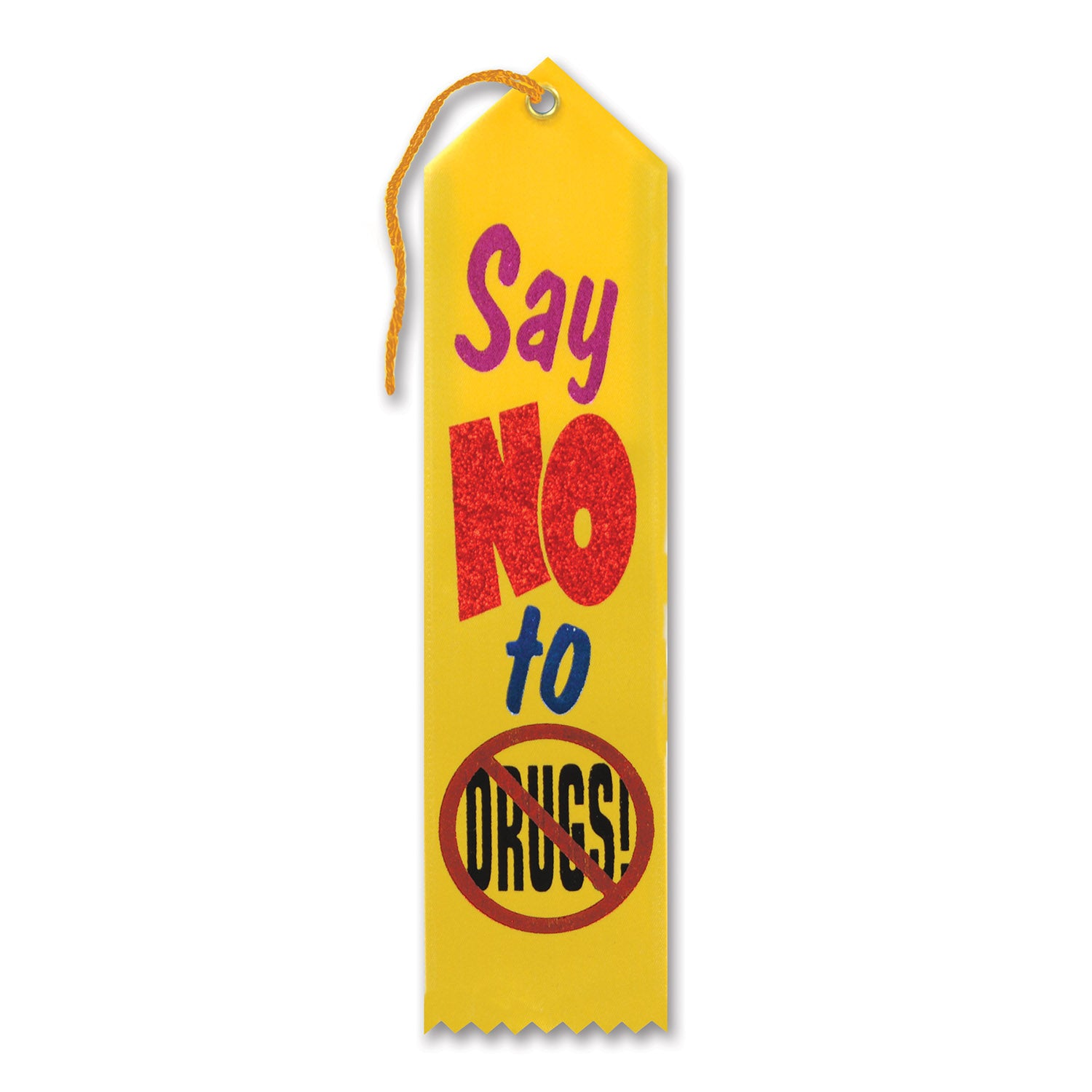 Say No To Drugs Award Ribbon by Beistle - School Awards and Supplies Decorations