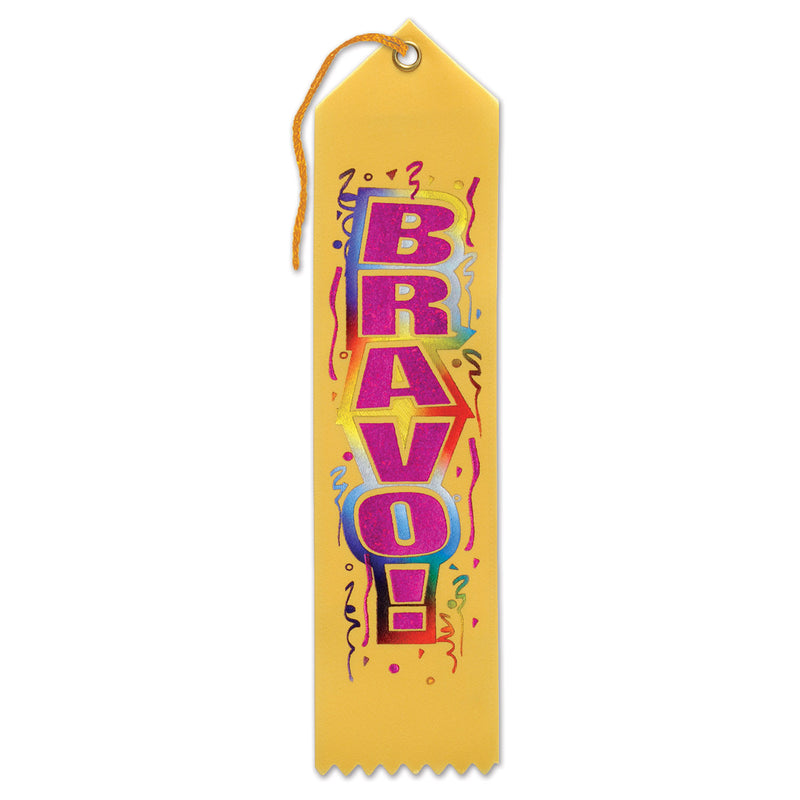 Bravo! Award Ribbon by Beistle - School Awards and Supplies Decorations