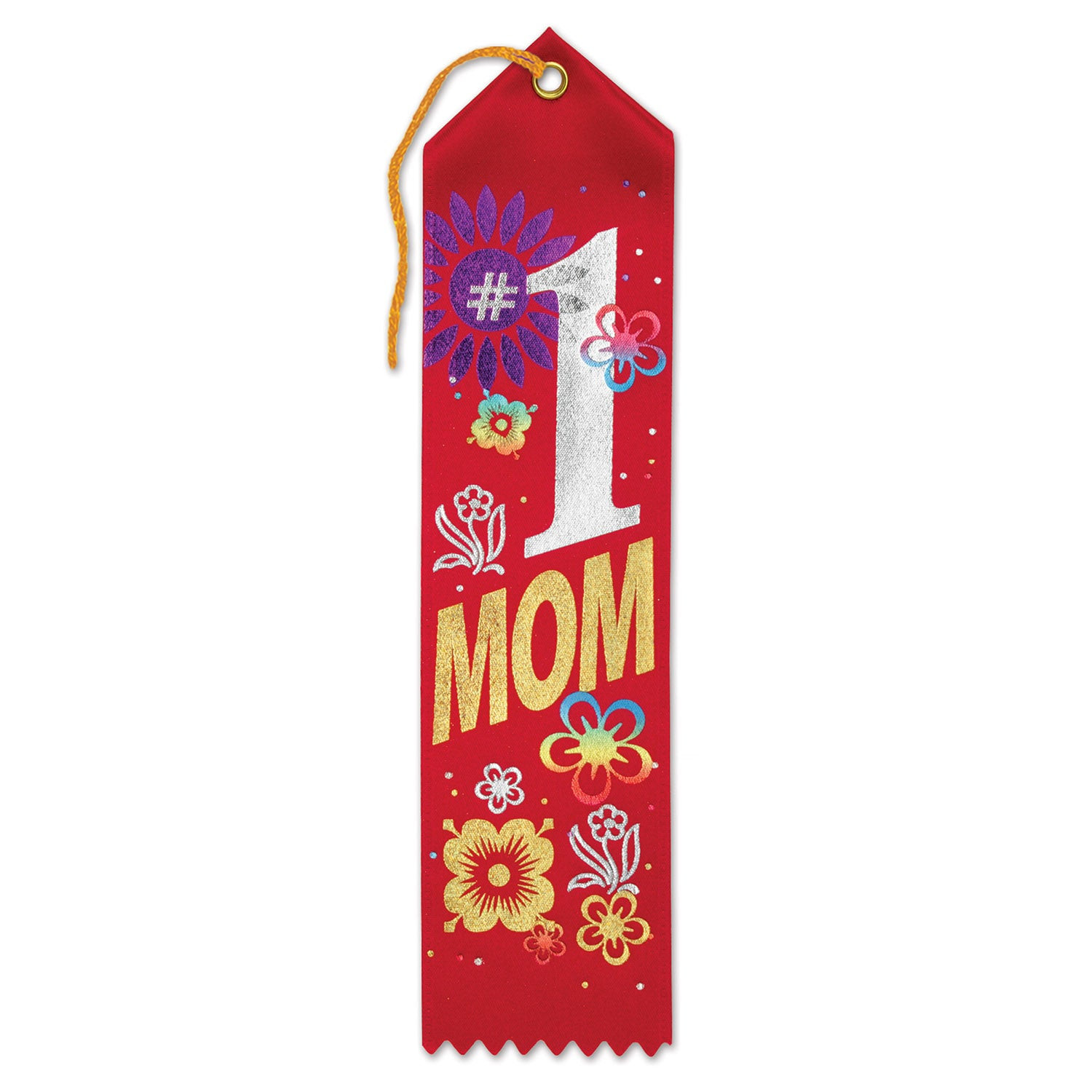#1 Mom Award Ribbon by Beistle - Mother's Day Theme Decorations