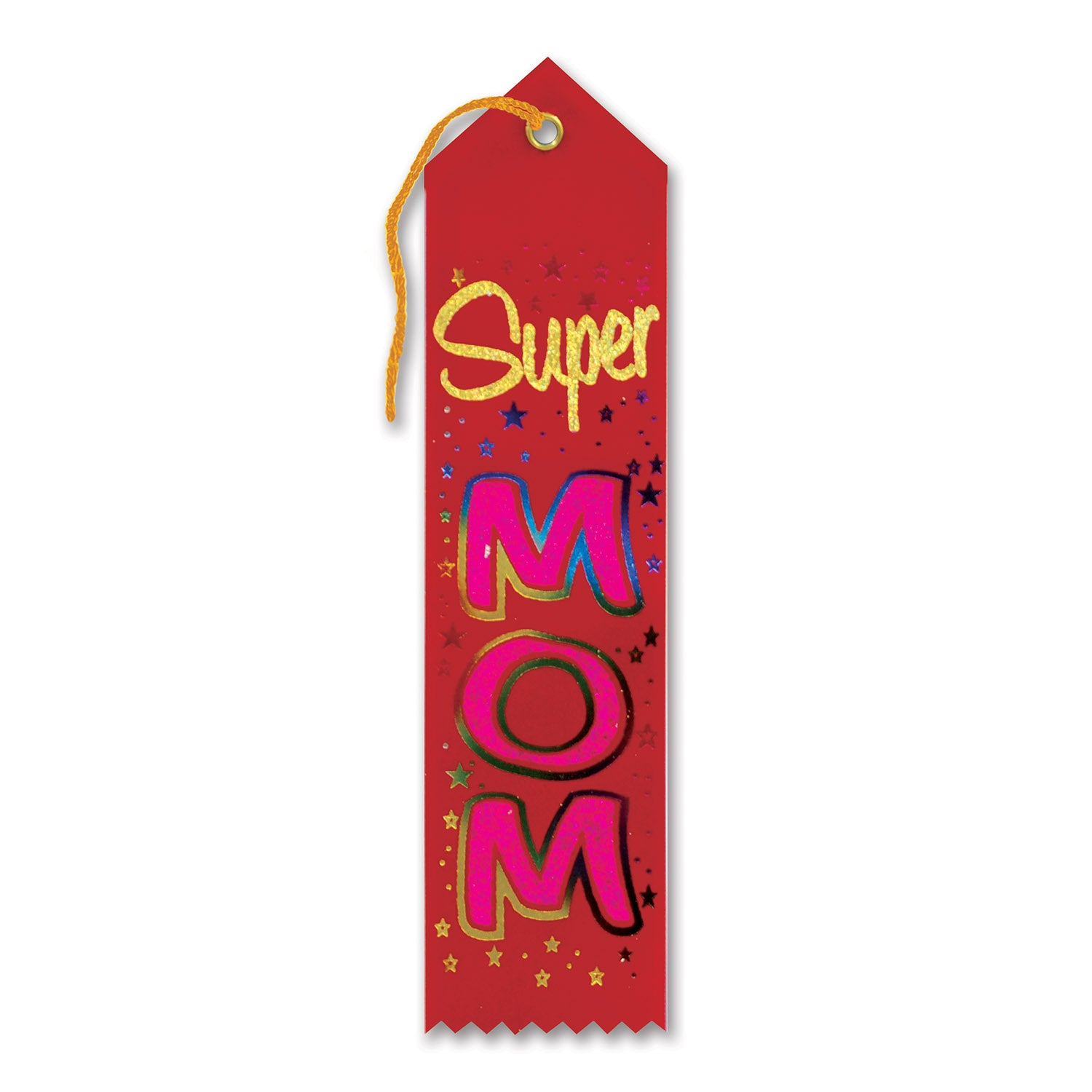 Super Mom Award Ribbon by Beistle - Mother's Day Theme Decorations