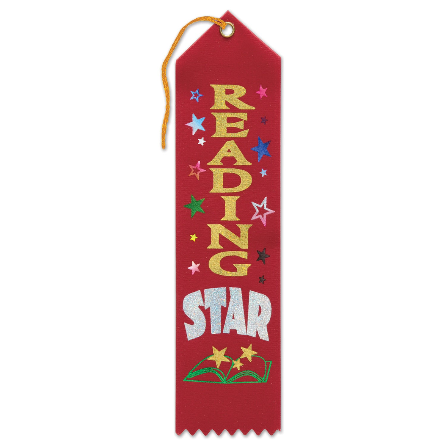Reading Star Award Ribbon by Beistle - School Awards and Supplies Decorations