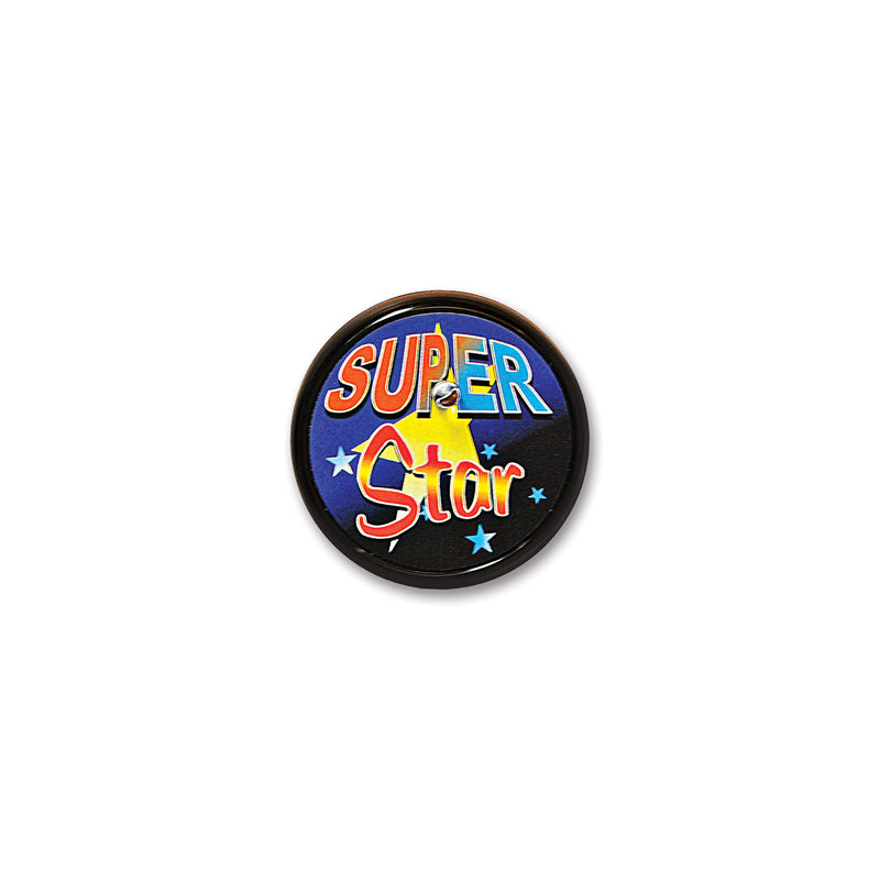 Super Star Blinking Button by Beistle - Sports Theme Decorations