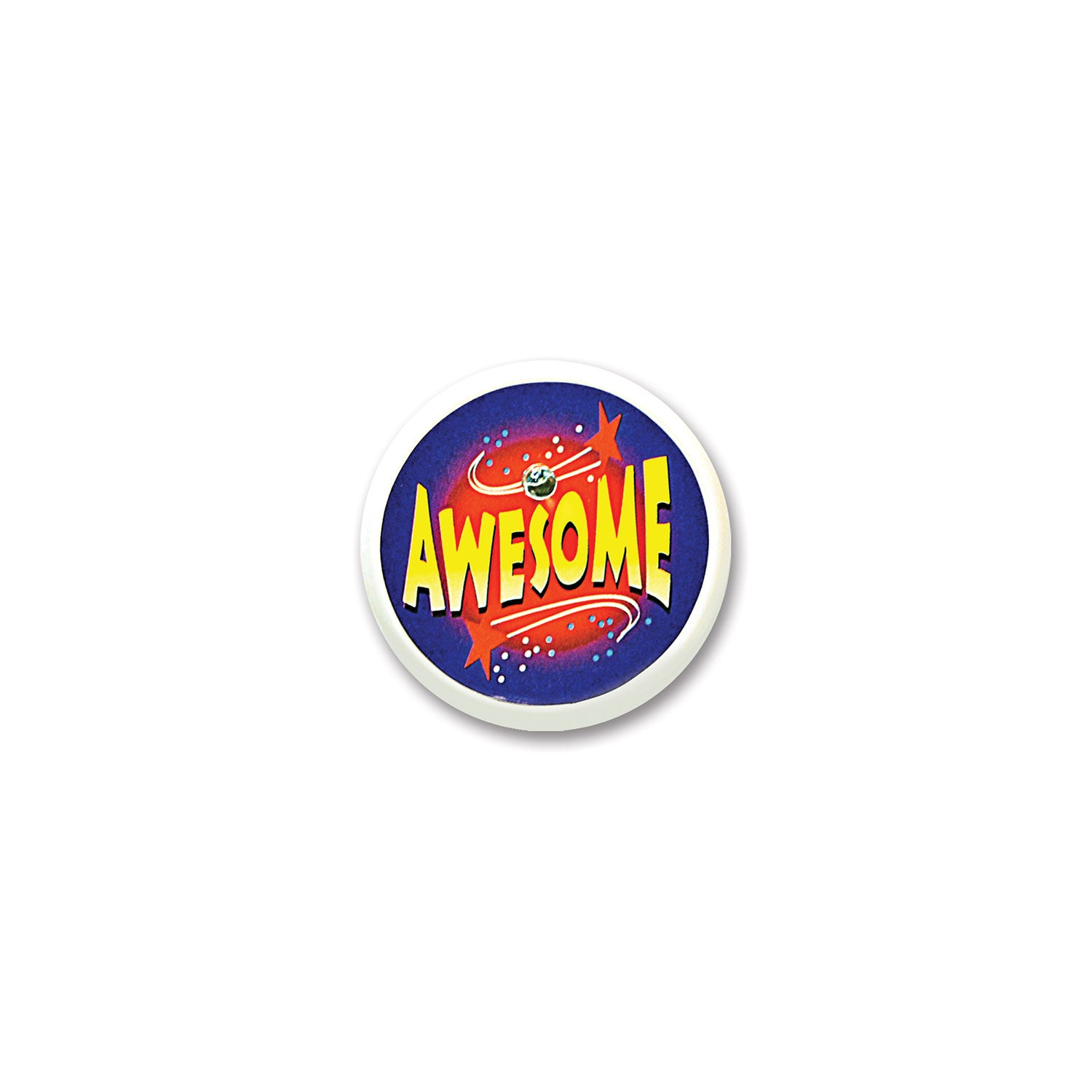 Awesome Blinking Button by Beistle - School Awards and Supplies Decorations