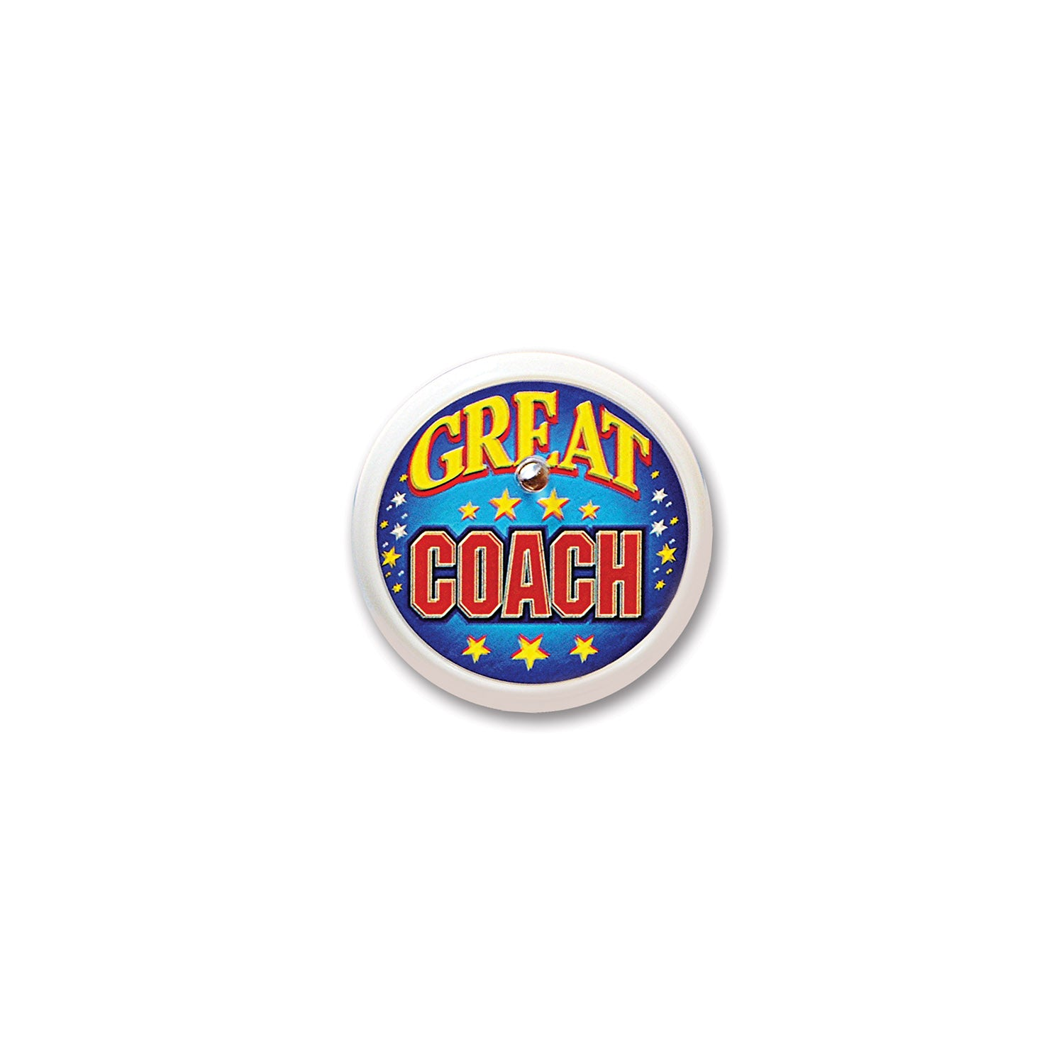 Great Coach Blinking Button by Beistle - Sports Theme Decorations