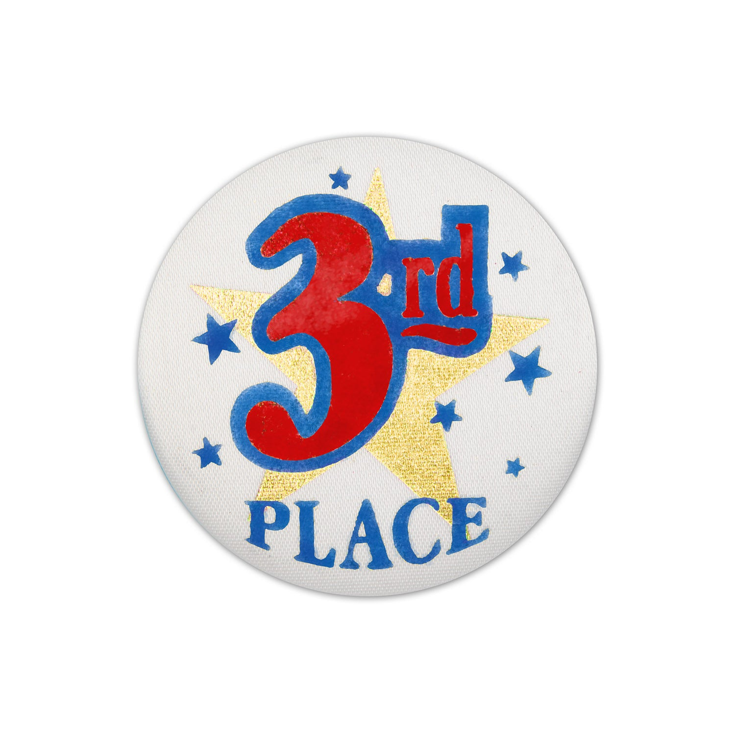 3rd Place Satin Button by Beistle - Sports Theme Decorations